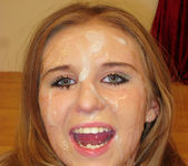 Innocent Young Chrissy Caine Gets Her Face Creamed 29