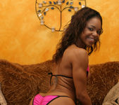 Ebony Beauty Marie Luv Gets Her Mouth Filled With Nut Butter 7