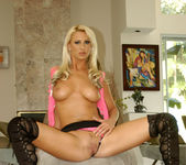 Two hot blondes in stockings 13