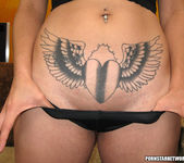 Tattooed Babe Sucks Dick In Pics 5
