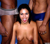 Latin Babe Karen Gets Double Dicked 8