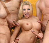 Busty Blonde Vivian West Swallows Cum 2