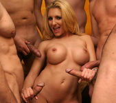 Busty Blonde Vivian West Swallows Cum 3