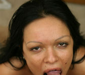 Latin Babe Valentina Gets Her Face Covered In Cum 12