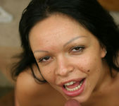 Latin Babe Valentina Gets Her Face Covered In Cum 13