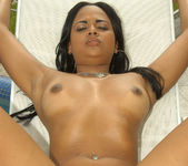 Sweet Latina Aline Gets Both Her Holes Drilled 6