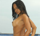Sweet Latina Aline Gets Both Her Holes Drilled 15