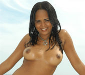 Sweet Latina Aline Gets Both Her Holes Drilled 16