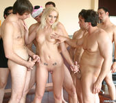 Blonde Slut Kacey Villainess Gets Her Face Covered 2