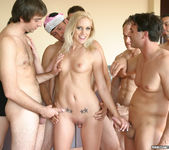 Blonde Slut Kacey Villainess Gets Her Face Covered 4