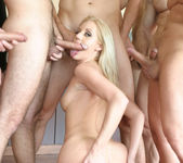 Blonde Slut Kacey Villainess Gets Her Face Covered 12