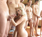 Blonde Slut Kacey Villainess Gets Her Face Covered 19