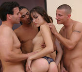Perky Brunette Sasha Grey Gets Her Face Blasted In Cum 4