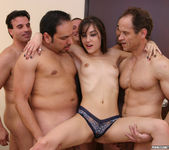 Perky Brunette Sasha Grey Gets Her Face Blasted In Cum 6