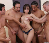 Perky Brunette Sasha Grey Gets Her Face Blasted In Cum 9
