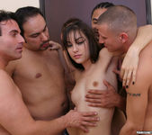 Perky Brunette Sasha Grey Gets Her Face Blasted In Cum 14