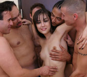 Perky Brunette Sasha Grey Gets Her Face Blasted In Cum 21