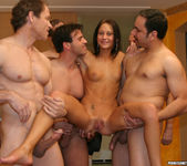Perky Babe Vanessa Gets Her Face Sauced After Gang Bang 2