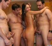Perky Babe Vanessa Gets Her Face Sauced After Gang Bang 4