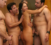 Perky Babe Vanessa Gets Her Face Sauced After Gang Bang 5