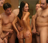Perky Babe Vanessa Gets Her Face Sauced After Gang Bang 6