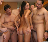 Perky Babe Vanessa Gets Her Face Sauced After Gang Bang 7
