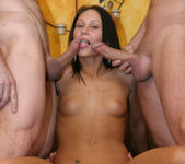 Perky Babe Vanessa Gets Her Face Sauced After Gang Bang 14