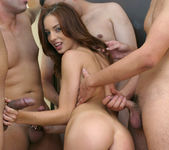 Brunette Slut Riley Shy Gets Her Face Covered In Cock Sauce 6