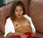 Sexy, Petite Asian Kylie Rey in a Schoolgirl Outfit 11