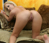 Blonde Kacey Villainess Giving a Very Flirty POV Blowjob 11