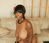 Ebony Stacy Adams Shows Off Her Big Natural Tits 2