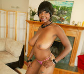 Ebony Stacy Adams Shows Off Her Big Natural Tits 11