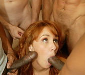 Redhead Laila Mason in a Blowjob Gang Bang 19