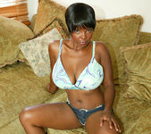 Ebony Stacy Adams Strips and Gives a Big Tits Fuck 4