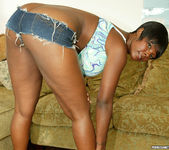 Ebony Stacy Adams Strips and Gives a Big Tits Fuck 6