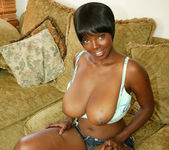 Ebony Stacy Adams Strips and Gives a Big Tits Fuck 16