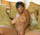 Ebony Stacy Adams Strips and Gives a Big Tits Fuck 24