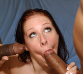 Brunette MILF Gianna Michaels Swallows After a 2 on 1 18