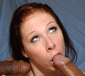 Brunette MILF Gianna Michaels Swallows After a 2 on 1 19