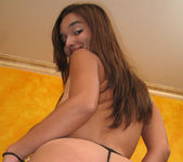 POV Blowjob and Footjob with Brunette Sandy Sweet 12