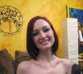 Petite Redhead Kyra Steele Giving a POV Blowjob 2