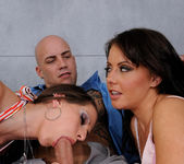 Rachel Roxx and Penny Flame - Threesome with Horny Brunettes 16