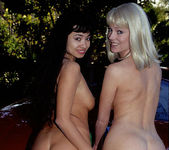 Devin Demoore and Avalon give a Blowjob in an Outdoor Oral 3