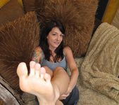 Lexi Bardot Gives a Blowjob and FootJob 10