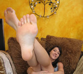 Lexi Bardot Gives a Blowjob and FootJob 11
