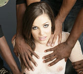 Bobbi Starr Fucks, Sucks, and Does Anal in a Gang Bang 4
