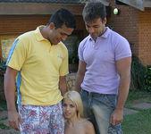 Priscila - Petite Blonde Latina Wants a 2 on 1 8