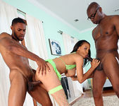 Lacy Green - 2 on 1 with Big Ebony Cocks 18