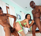 Lacy Green - 2 on 1 with Big Ebony Cocks 19