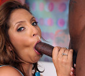 Taylor Mayde's Interracial 2 on 1 5